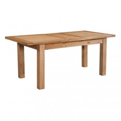 Devonshire Pine and Oak Ready assembled Dorset Oak DINING TABLE WITH 1 EXTENSION 120-153 X 80 DOR093