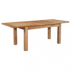 Devonshire Pine and Oak Ready assembled Dorset Oak DINING TABLE WITH 2 EXTENSIONS 132-198 X 90 DOR094