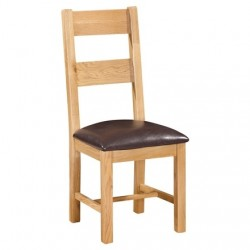 Devonshire Pine and Oak Ready assembled Dorset Oak LADDER BACK CHAIR DOR098
