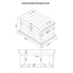 Corona single storage chest