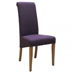 OAK FABRIC CHAIR - MAUVE