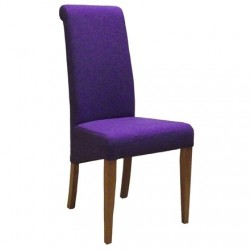 Oak FABRIC CHAIR - PURPLE