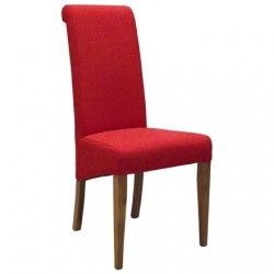 Oak FABRIC CHAIR - DARK ORANGE