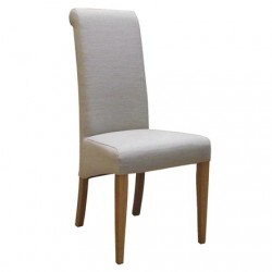 Oak  FABRIC CHAIR - BEIGE