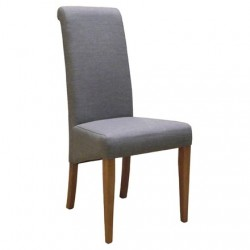 Oak FABRIC CHAIR - LIGHT GREY