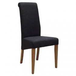 Oak FABRIC CHAIR - CHARCOAL