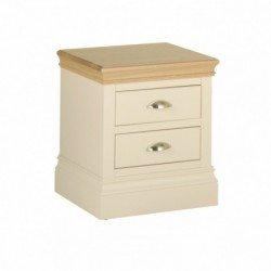Devonshire Pine and Oak Ready assembled Pine LUNDY 2 DRAWER BEDSIDE LB20