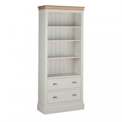 Devonshire Pine and Oak Ready assembled Pine LUNDY 6 foot BOOKCASE  plus  DRAWERS LK50