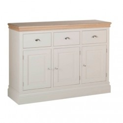 Devonshire Pine and Oak Ready assembled Pine LUNDY 3 DRAWER SIDEBOARD LS40