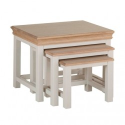 Devonshire Pine and Oak Ready assembled Pine LUNDY NEST OF TABLES LT30