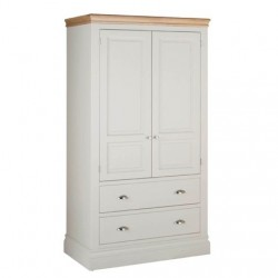 Devonshire Pine and Oak Ready assembled Pine LUNDY 2 DRAWER WARDROBE LW55